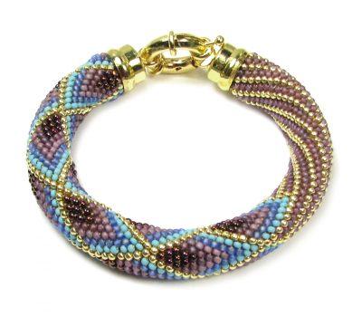 Chevron Stripe Bead Crochet