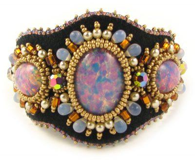 Haline Bead Embroidery Bracelet