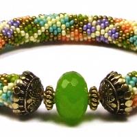 Beads East Beading Argyle Bead Crochet Bracelet