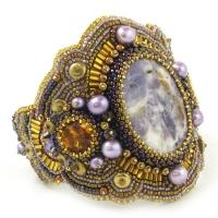 Baroque Bead Embroidery Bracelet