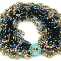 Carnivale Bead Crochet Bracelet