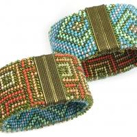 Graphique Reversible Bead Crochet Bracelet