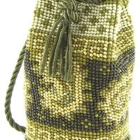 Paisle Bead Crochet Pouch