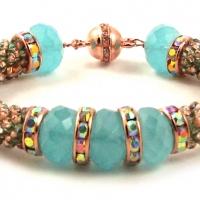 Robin's Egg Bead Crochet Bracelet