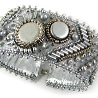 Silver Streak bead embroidery